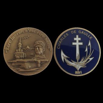 Médaille Coins CHARLES DE GAULLE (ref medfr025)