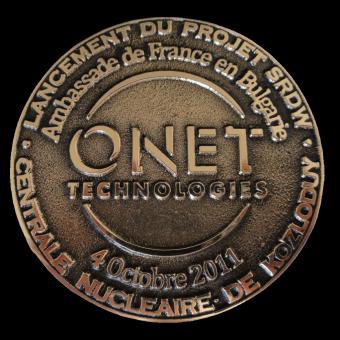 Médaille fondue ONET (ref medfond031)