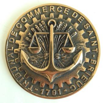 Médaille MEDFON072 TRIBUNAL DE COMMERCE DE ST BRIEUC
