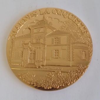 Médaille MEDFR068 MARNE LA COQUETTE