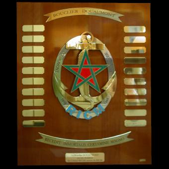 Plaque en Bronze sur masure RICM (ref 9039) à personnaliser