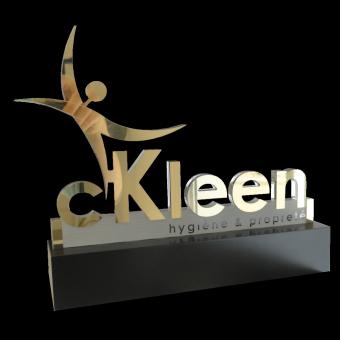 Trophée lettrage CKLEEN