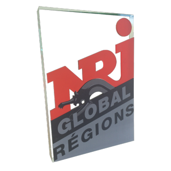 Trophée NRJ GLOBAL REGION (verre altuglas)