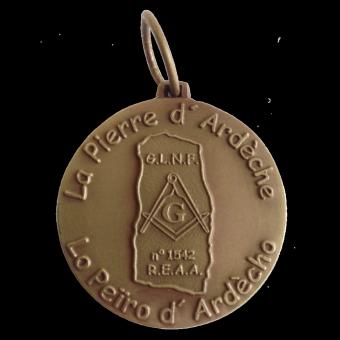 médaille loge Pierre d'Ardêche