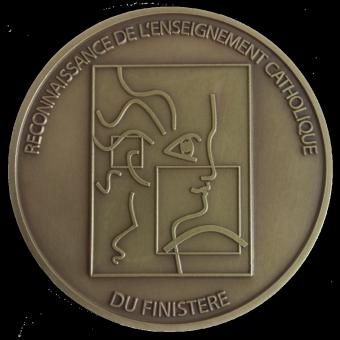 Médaille ne bronze ddec finistere sur mesure