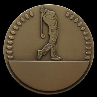 Médaille en bronze personnalisable Golf