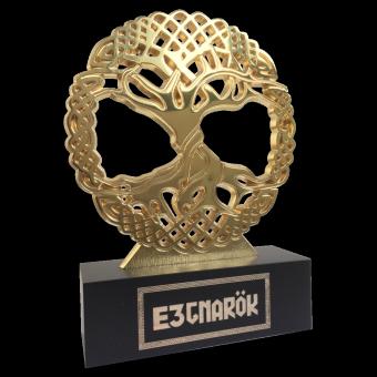 Trophée en Bronze jaune massif ARBRE DE VIE E3GNAROK