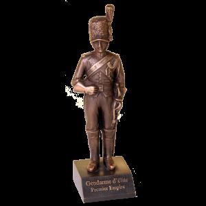 Réplique en bronze du Gendarme d'Elite Premier Empire. (Hauteur 215 mm)